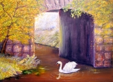 <h5>The Mill Swan</h5><p>Oil on Canvas $400</p>