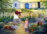 <h5>Summer Garden</h5><p>Oil on Canvas $450 </p>