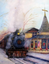 <h5>New Hope Train Station</h5><p>Oil on Canvas $300</p>