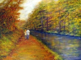 <h5>Autumn on the Towpath</h5><p>Oil on Canvas $600</p>