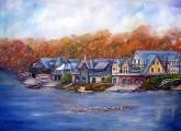 <h5>Boathouse Row in Philadelphia</h5><p>Oil on Canvas $650</p>