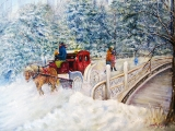<h5>Winter Carriage in Central Park</h5><p>Oil on Canvas $600</p>