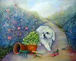 <h5>Garden Path</h5><p>Oil on Canvas $350</p>