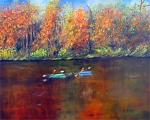 <h5>Lake Nockamixon Autumn</h5><p>Oil on Canvas $275</p>