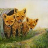 <h5>Little Foxes</h5><p>Oil on Canvas/ $225</p>