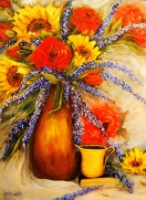 <h5>Mixed Bouquet</h5><p>Oil on Canvas $300</p>