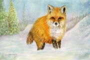 <h5>Red Fox in Winter</h5><p>Pastel $200</p>