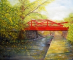 <h5>Towpath in New Hope</h5><p>Oil on Canvas $385</p>