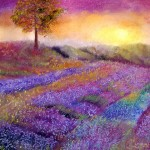 Lavander Dreamscape Pastel Painting. Sold