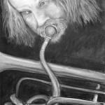 Musician (Man Playing Flugelhorn)