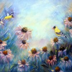 Goldfinches and Coneflowers
