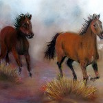 Run Wild, Run Free, 24x12 inches, Pastel. In Private Collection.