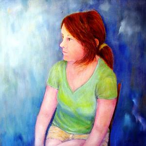 """Reverie  -  Oil  -  18x18""""  -  in private collection"""