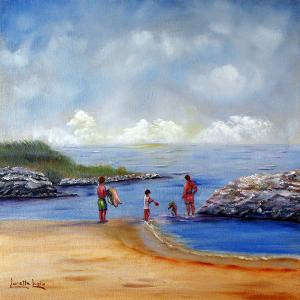 "Rock Hall Beach  -  Oil on Canvas  -  8x18""  -  $500"