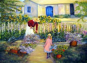 "Summer Garden  -  Oil on Canvas  -  24x18""  -  $600"