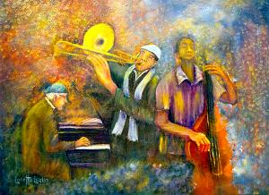 """All That Jazz  -  Oil  -  24x18""""  -  $500"""