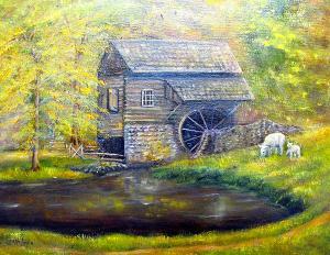 "Bronley Mill at Cuttaloossa Farm  -  Oil on Canvas  -  16x20""  -  $400"