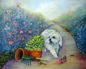 """Garden Path  -  Oil  -  16x20""""  -  $350"""