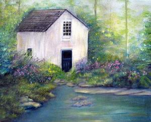 "Old Springhouse  -  Oil on Canvas  -    20x16""  -  $450"