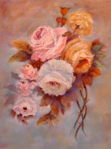 Roses Study  -  Pastel  -  Sold